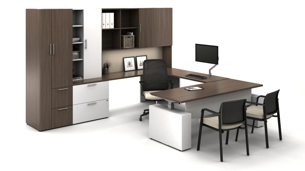 Calibrate Private OfficeAbsolute Acajou and True White Bolton and Paxton Seating0 - Calibrate
