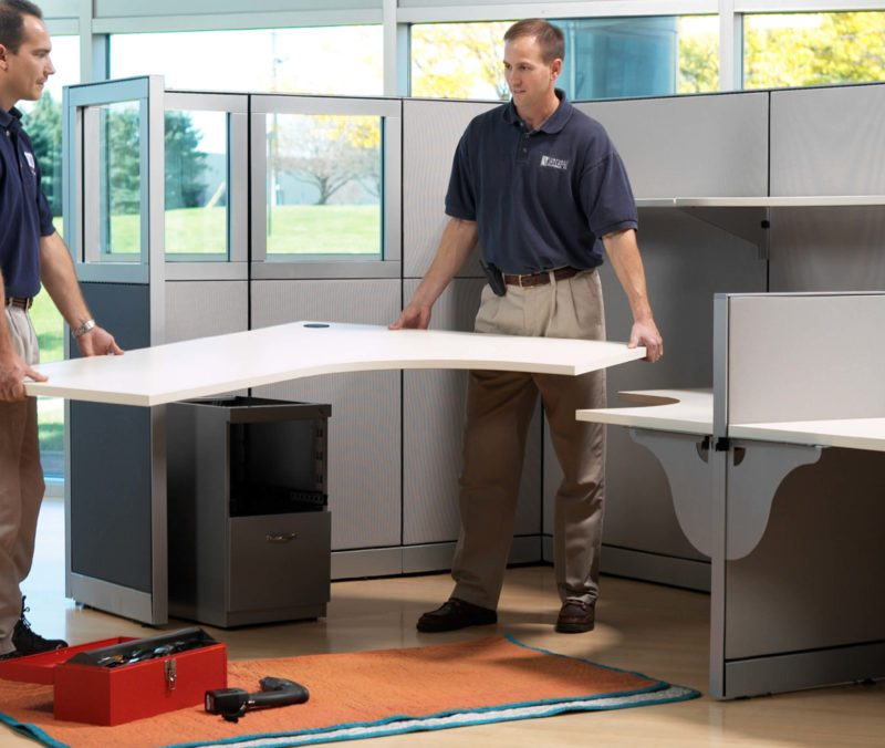 men stalling office furniture 1024x676 1 800x676 - Maintenance & Re-Furbishment